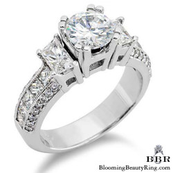1.10 ctw. 14K Gold Diamond Engagement Ring - nrd215