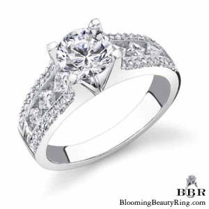 .58 ctw. 14K Gold Diamond Engagement Ring – nrd348e