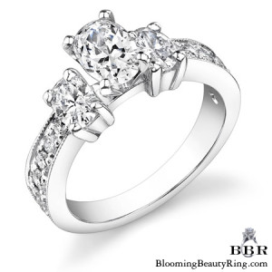 1.10 ctw. 14K Gold Diamond Engagement Ring – nrd360-1