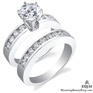 1.08 ctw. 14K Gold Diamond Engagement Ring Set – nrd440eb