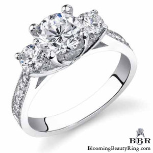 .75 ctw. 14K Gold Diamond Engagement Ring – nrd475