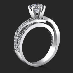 .55 ctw. Split Shank Hook and Loop Diamond Engagement Ring - bbr446
