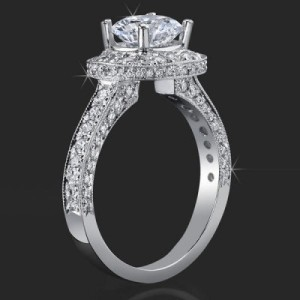Unique Style Halo Engagement Ring with Ultra Diamonds High Quality All Over – bbr441