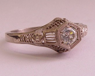 Filigree Antique and Vintage Pre-Set Engagement Rings