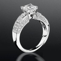 Pave Wide Diamond Band with Intricate Milgrain Edging and Antique Design