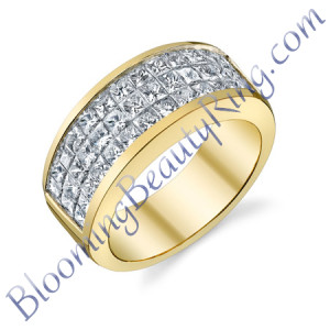 VWR-534 |Channel Set Vintage Wedding Ring