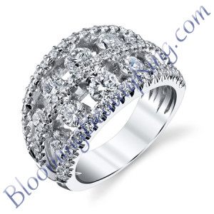VWR-621 | Round Double Graduate Vintage Wedding Ring