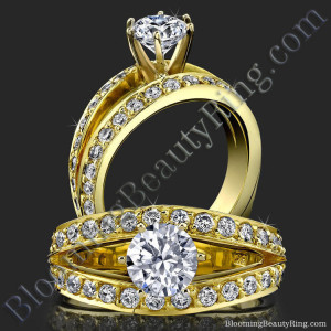 A Full Split Shank Slightly Soft Cornered Diamond Engagement Ring – bbr409