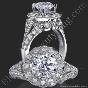 Antique Bezel Engagement Ring with Vintage Art Deco Styling – bbr6709