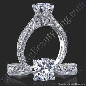 Antique Vintage Setting Style With Unique Hand Carving And V Shape Shank – bbr359