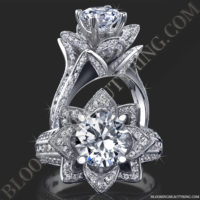 1.78 ctw. Original Large Blooming Beauty Flower Ring<br>$4300
