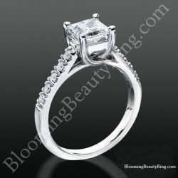 Bridge and Crossover U Prong Diamond Engagement Ring