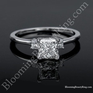 Elegant 3 Stone Princess Diamond Engagement Ring – nw6549