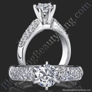 High Quality 6 Prong Modified Cathedral Engagement Setting – bbr189e
