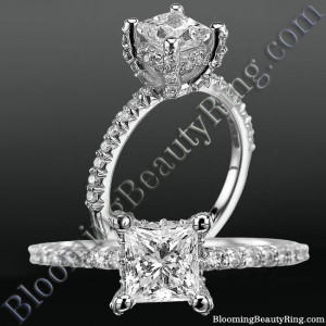 High Spirited Diamond Encrusted Unique Petite Engagement Ring – nw6004