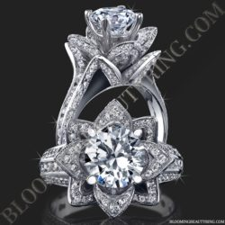 1.78 ct. Original Large Blooming Beauty Engagement Ring