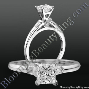 Modified Cathedral Bezel Set Engagement Ring with Peekaboo Diamonds – nw8713