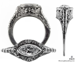 mq004bbr antique filigree engagement rings