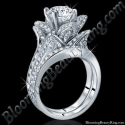 2.08 ctw. Original Large Blooming Beauty Flower Ring Set
