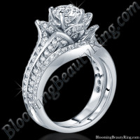 1.67 ctw. Original Small Blooming Beauty Flower Ring Set<br>$5000