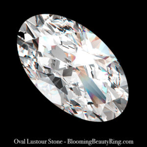 .75 ct. Oval Cut Lustour Stone