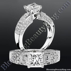 Pave Wide Diamond Band with Intricate Milgrain Edging and Design – bbrnw6003