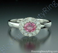 .60 ctw. Pink Sapphire and Diamond Raised Ring
