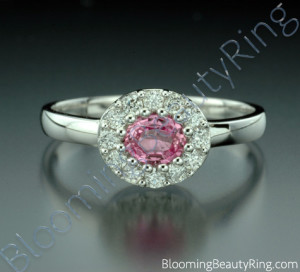 .60 ctw. Pink Sapphire and Diamond Raised Ring – cgrRG197