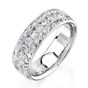 Protected: Special Order Men's Diamond Wedding Band for Thomas Waldorf – bbr270