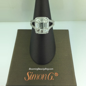Simon G Preset Mosaic Split Shank Wedding Ring – MR2020
