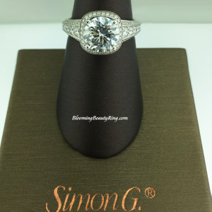 Simon G Passion Escalating Set Halo Bridal Ring – MR2181