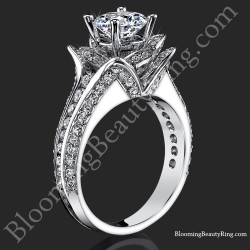 1.37 ctw. Original Small Blooming Beauty Flower Ring