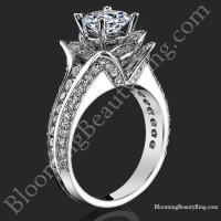 1.37 ctw. Original Small Blooming Beauty Flower Ring<br>$3500