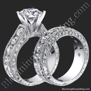 Spectacular 4.20 ctw. Top Quality Round Diamond Engagement Ring Set – bbr389set