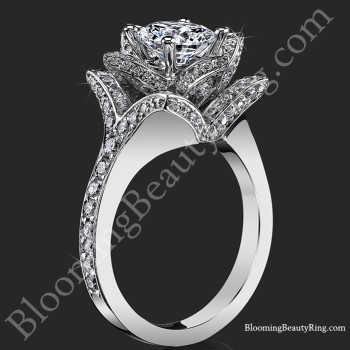 The Crimson Rose 1.58 ctw. Rose Cut Flower Diamond Engagement Ring<br>$3750</br>