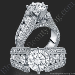 The High Class Escalating Split Shank Diamond Engagement Ring - bbr392