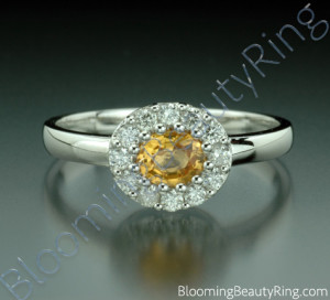 .65 ctw. Round Yellow Sapphire and Diamond Ring – cgrRG188