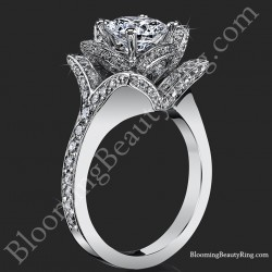 Beautiful Petra 1.58 ctw. Rose Flower Diamond Engagement Ring