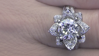 1.78 Large Blooming Beauty Ring on the Finger Video