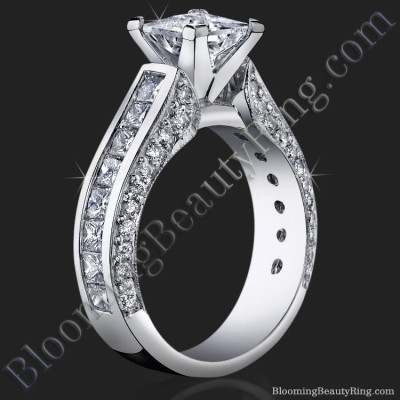 The original princess diamond engagement ring before customization.