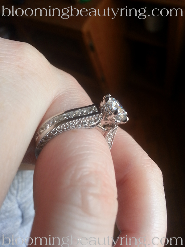 Ring Customizations. From a 4 prong princess to a 6 prong round head.