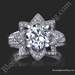 1.78 ctw. Blooming Beauty Flower Ring Laying Down Small