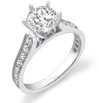 Reverse Tapered Engagement Ring