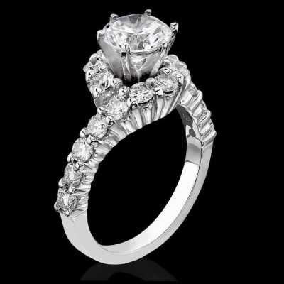 1.25 ctw. 6 Prong Hook and Swirl Tiffany Style Diamond Engagement Ring - bbr387