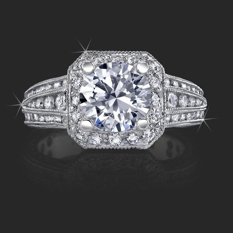 Crown Flat Bottom European Style Band With Over 80 Hand Set High Quality Diamonds Bbr350