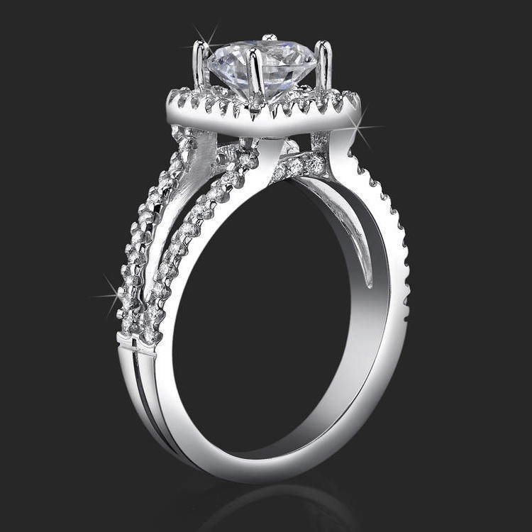 ring engagement square diamond cross over savanah rings setting solitaire