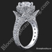 4 Prong Hand Engraved Flower Engagement Ring Set - Ring Only
