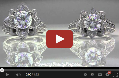 Difference between the large and small blooming beauty engagement rings video