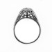 012bbr   Antique Filigree Ring   for a .42ct. to .52ct. round stone   Organic Natural Look