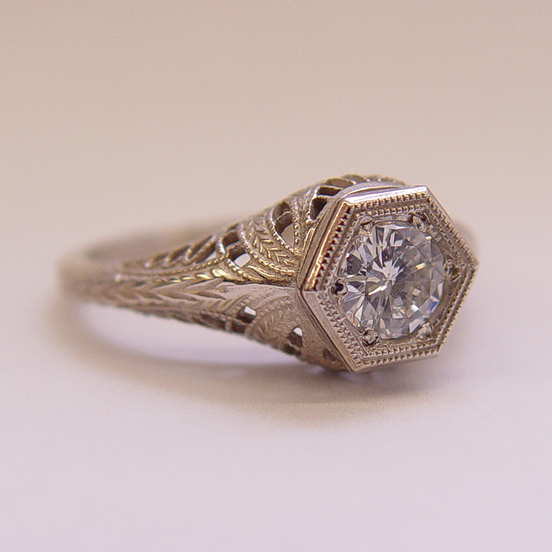 039fbbr Pre Set Antique Filigree Ring 48ct Round